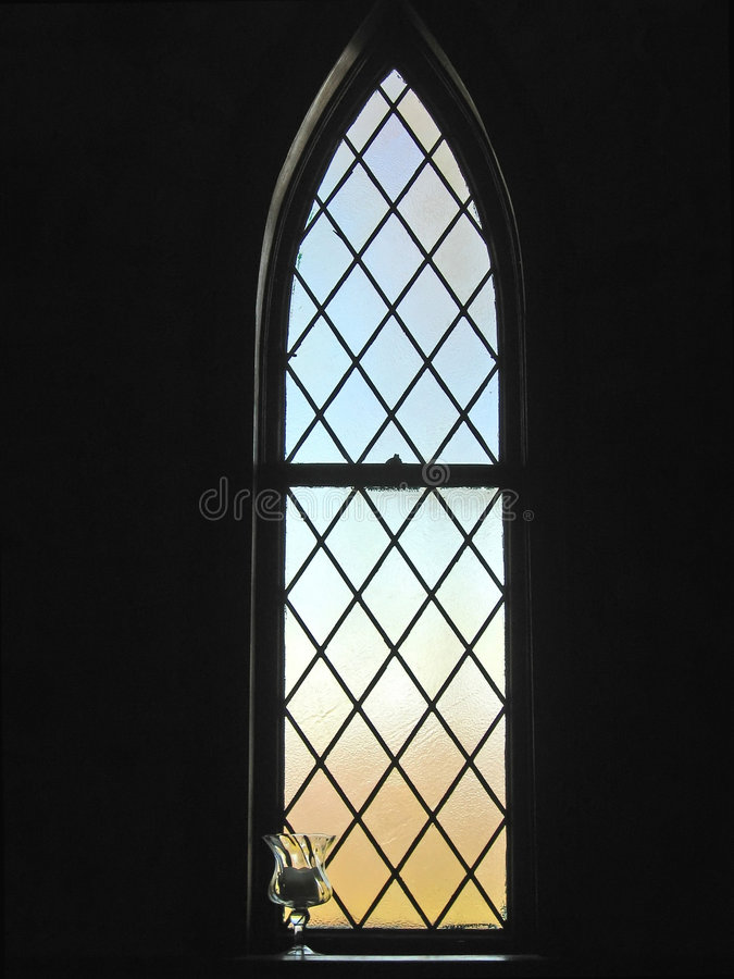 Stained Glass Window. In old church royalty free stock images