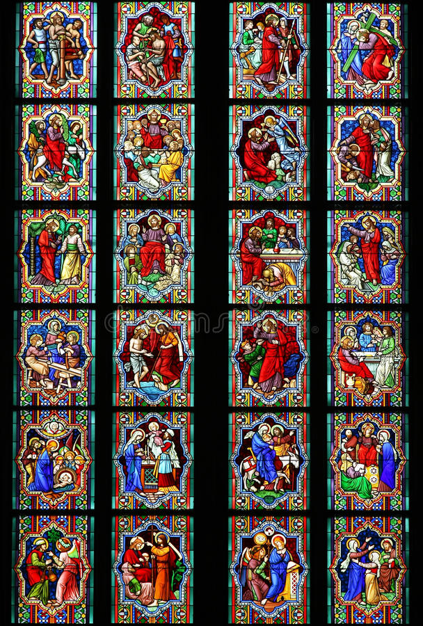Download Stained-glass window stock photo. Image of christianity - 11389228