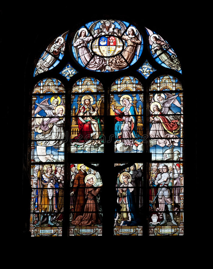 Download Stained glass window stock image. Image of abbey, bible - 12576187
