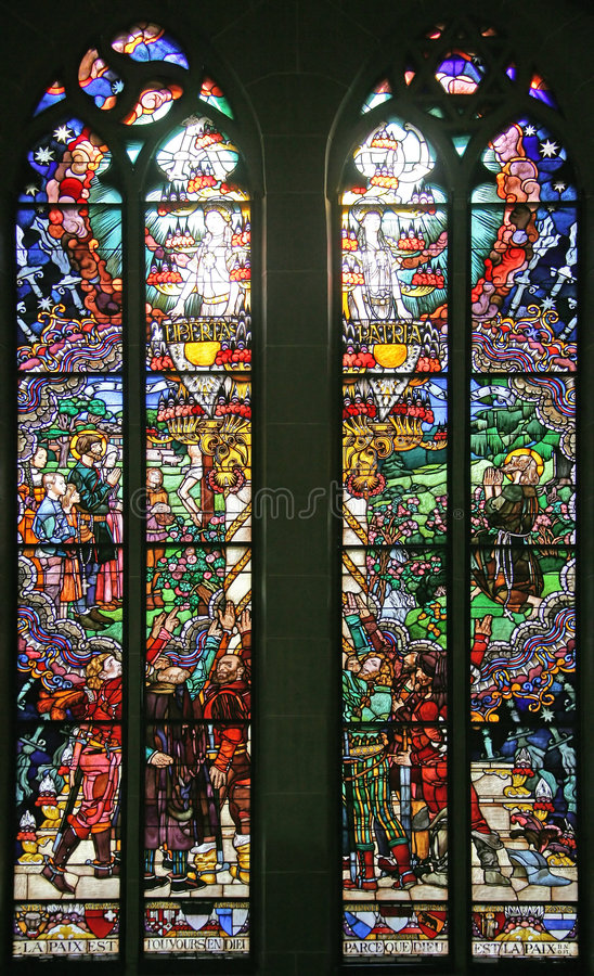 Stained-glass Window 13 stock images