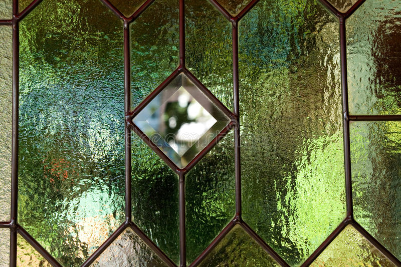 Stained Glass Window. Close up royalty free stock photo
