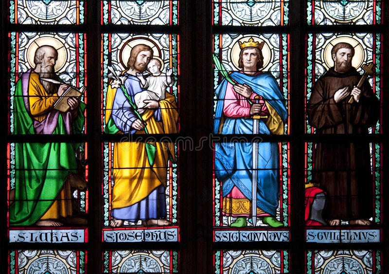 Download Stained glass window stock image. Image of people, color - 13169911