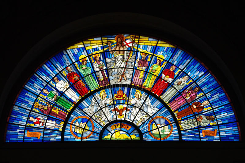Stained-glass window royalty free stock photos