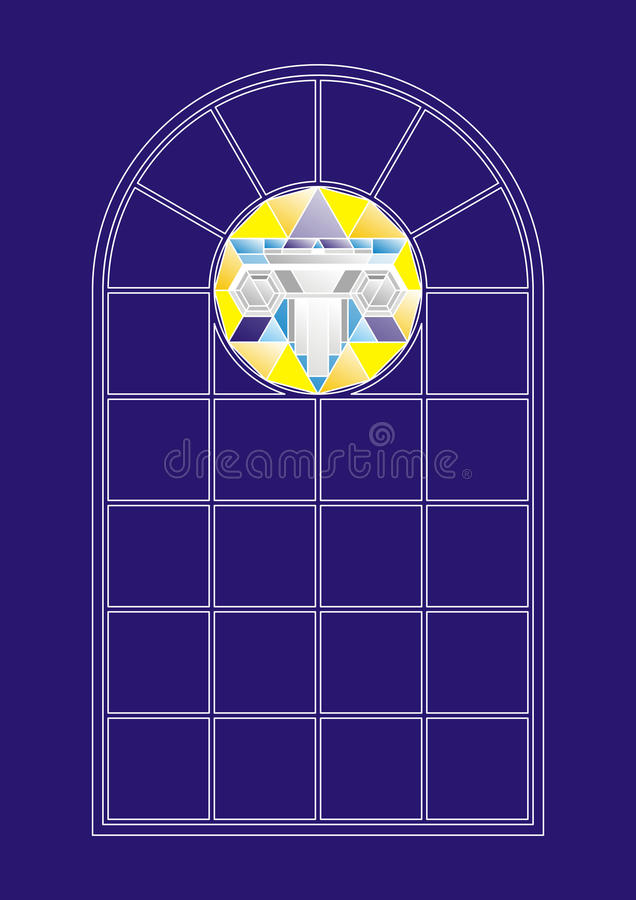 Download Stained-glass window stock vector. Image of decor, pillar - 24848027