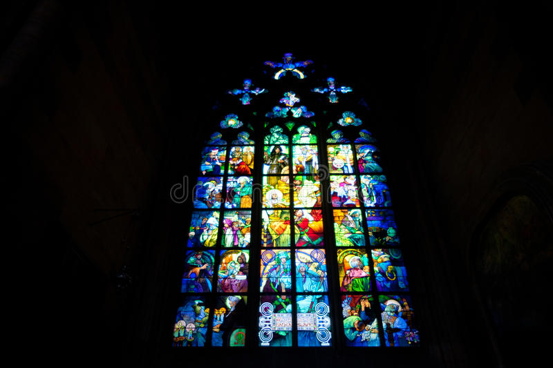 Download Stained-glass window stock photo. Image of prague, gothic - 25643666