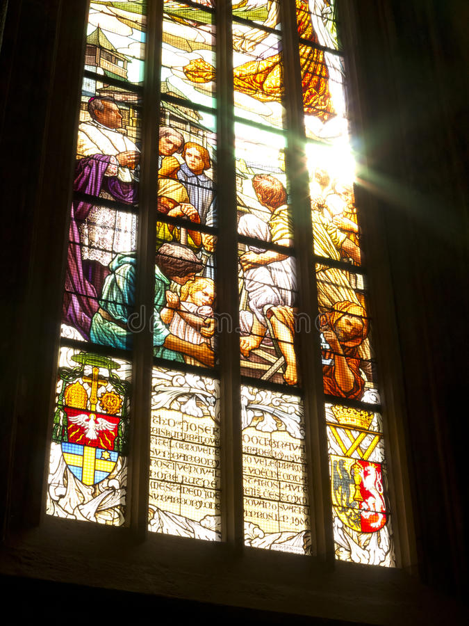 Download Stained-glass window stock photo. Image of architectural - 27263874