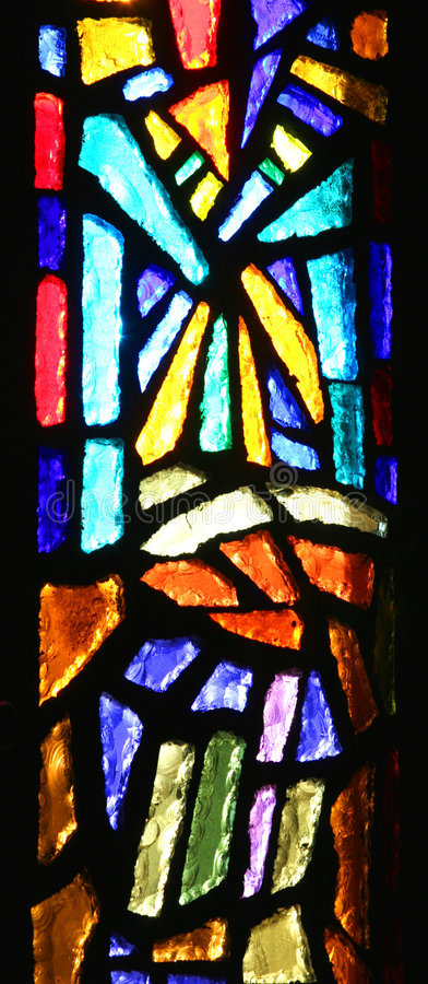 Stained-glass window. stock photos