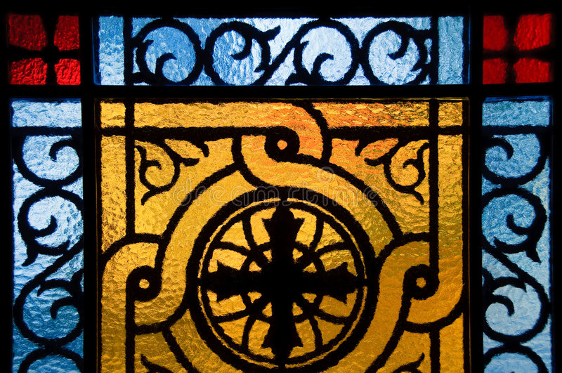 Download Stained-glass window stock image. Image of close, monastery - 7958079