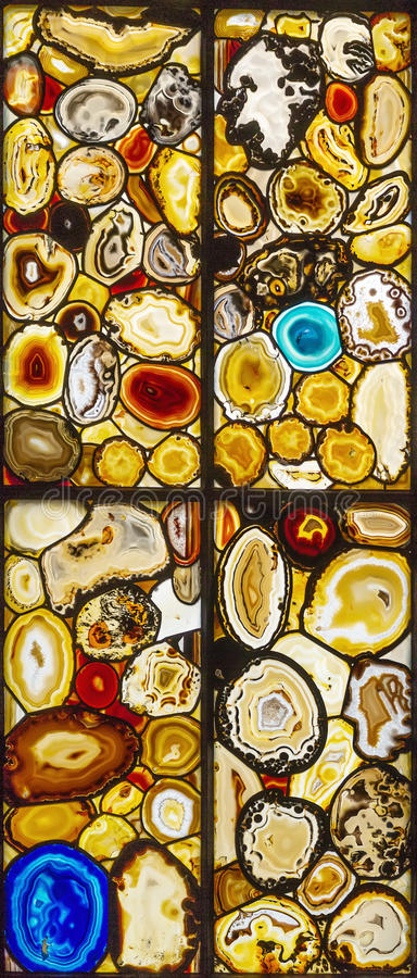 Stained-glass window. With abstract decorative pattern royalty free stock image