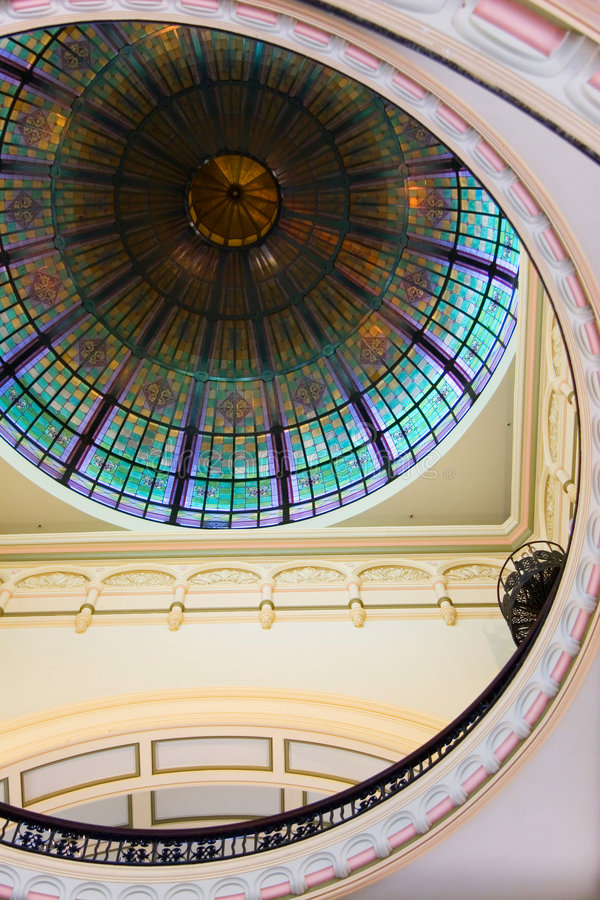 Stained Glass Window Ceiling Stock Images