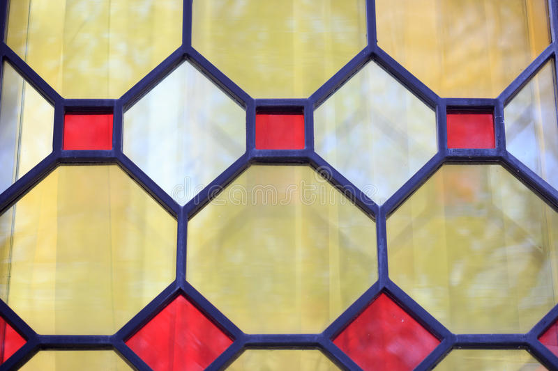 Stained-glass window from colored glass. Design element royalty free stock photography