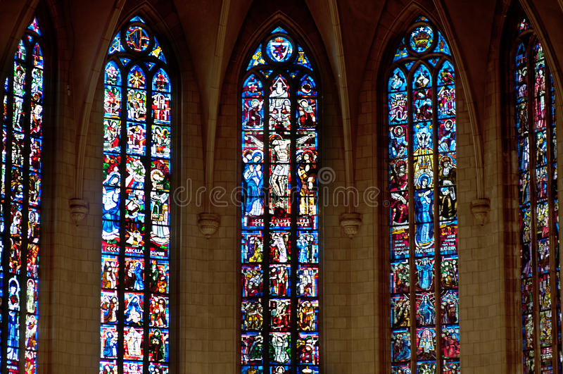 Stained Glass Window. Depicting Royalty Free Stock Photos