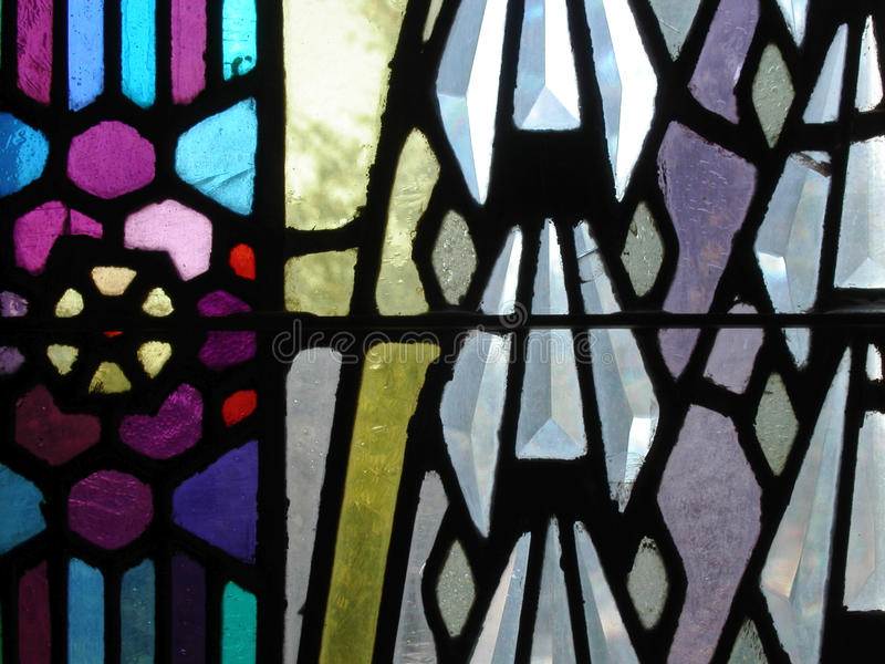 Stained Glass Window detail. Boston Avenue United Methodist Church, Tulsa, Oklahoma stock images