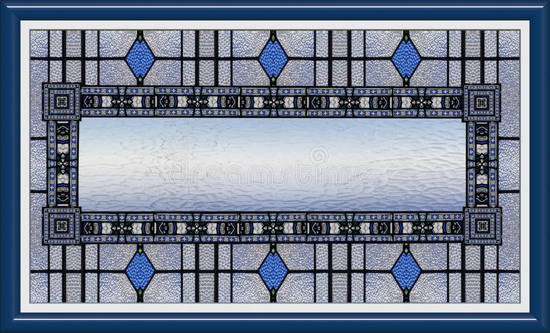 Stained Glass Window In Frame With Blank Content Royalty Free Stock Photos