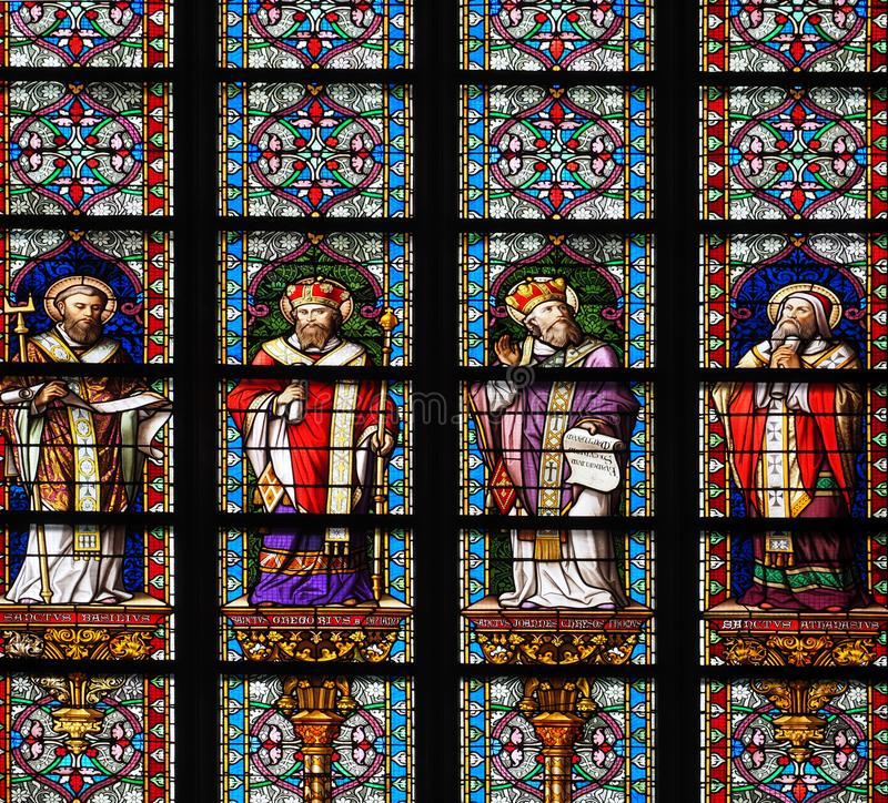 Free Stained Glass Window In St Jan, `s Hertogenbosch Stock Photography - 153119062