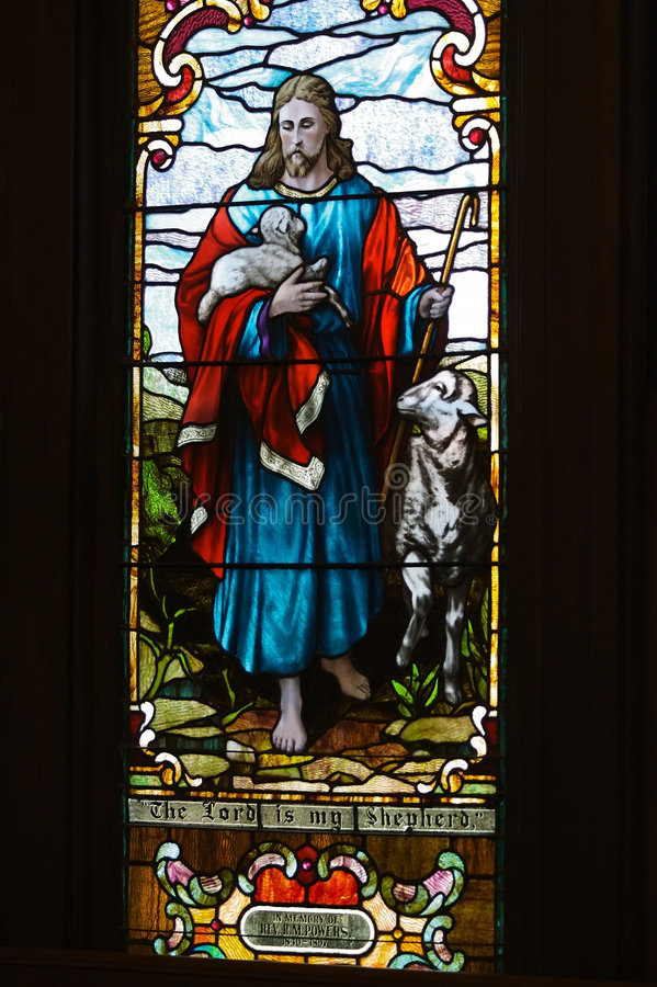 Download Stained Glass Window The Lord Is My Shepherd Stock Image - Image: 4754825