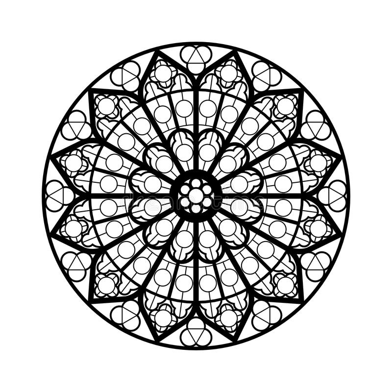 Stained glass window shape vector illustration