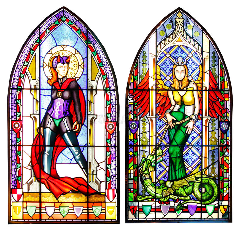 Download Stained glass windows stock photo. Image of isolated - 24519010