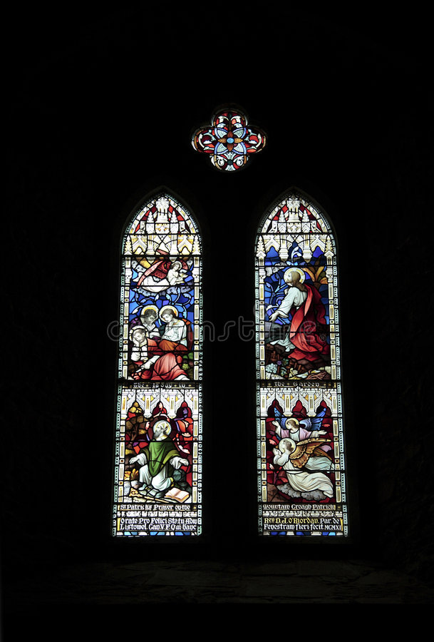 Download Stained glass windows stock image. Image of catholic, church - 2855569