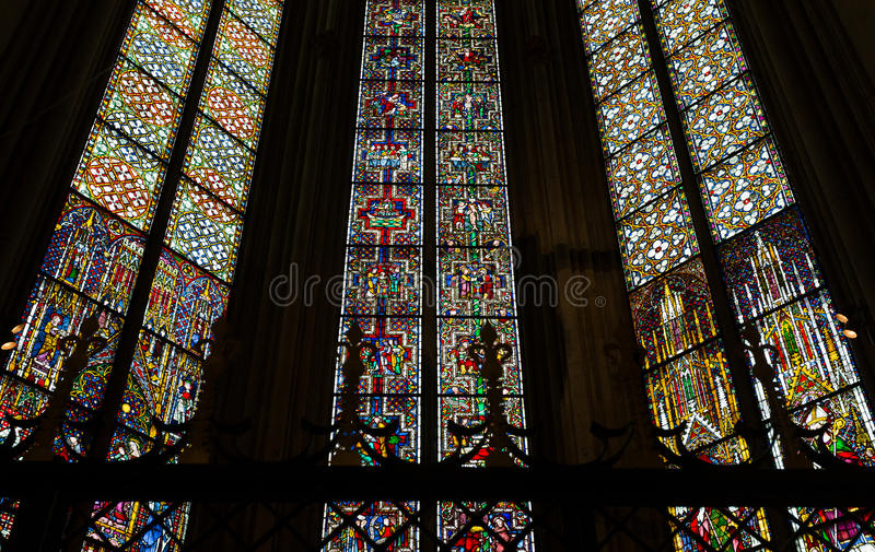 Download Stained glass windows stock photo. Image of majestic - 30875498