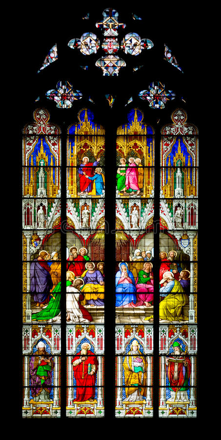Download Stained glass windows stock photo. Image of famous, christianity - 30875644