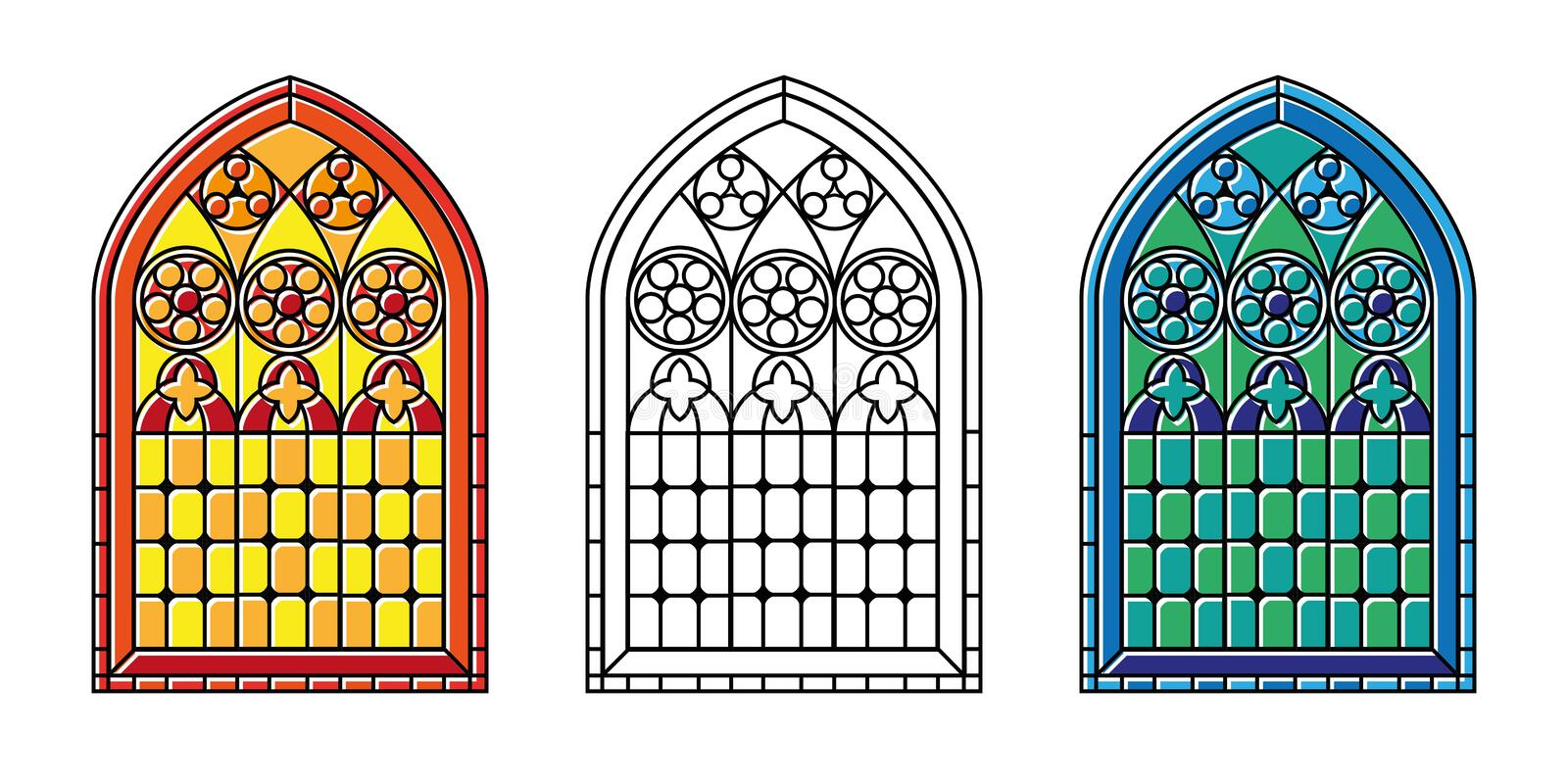 Download Stained Glass Windows Stock Vector Illustration Of Beautiful