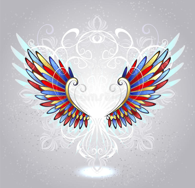 Stained glass wings stock illustration