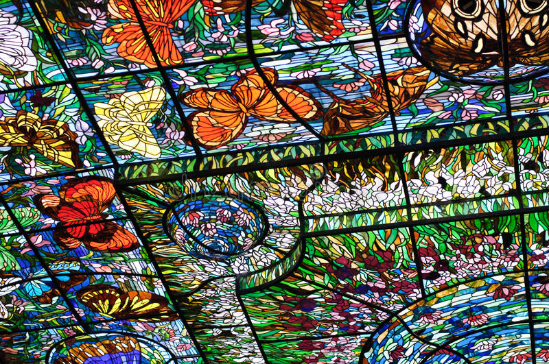 Download Stained-glass In Xcaret, Mexico Stock Image - Image: 11880687