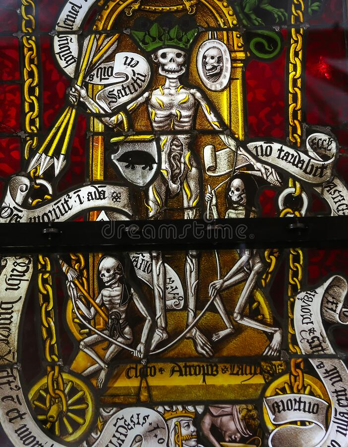 Free Stained Glasses Of The Cathedral, Troyes, France Royalty Free Stock Image - 182137216