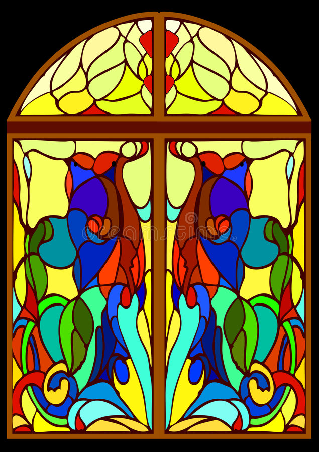 Stained-glassfenster vektor abbildung