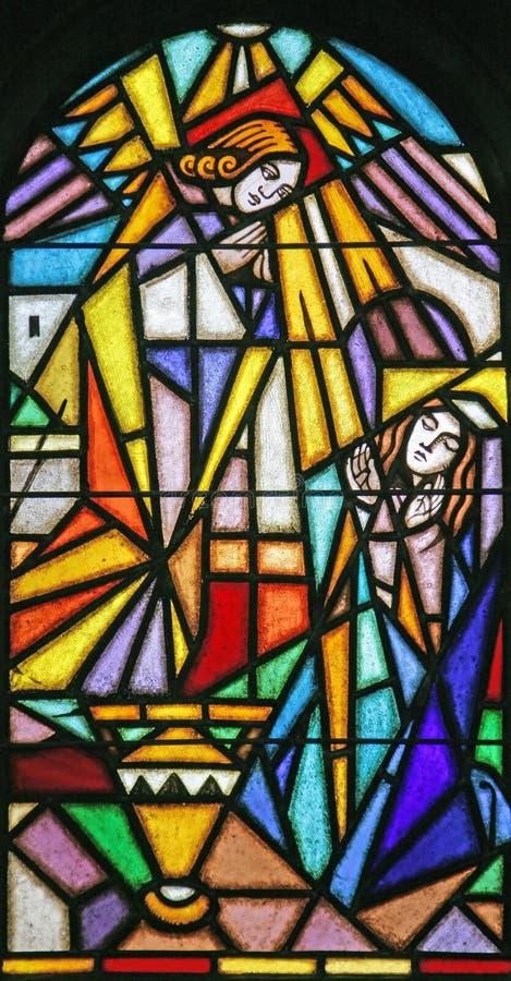 Stained-glassfenster 55 Lizenzfreies Stockbild