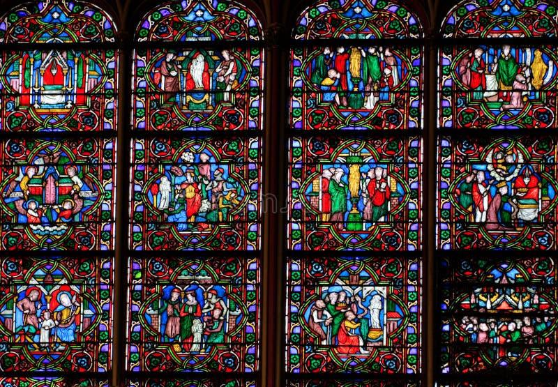 Stained-glassfenster stockfotos