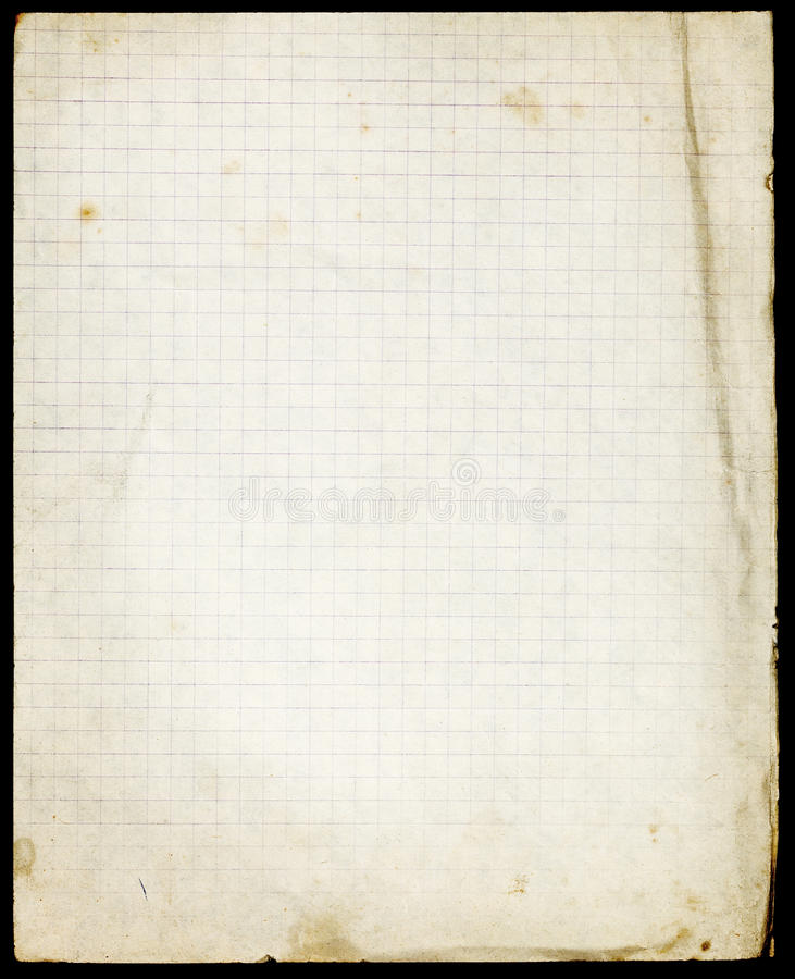 Free Stained Lined Old Paper With Folded Corner And Faded Lower Part Stock Photo - 81354990