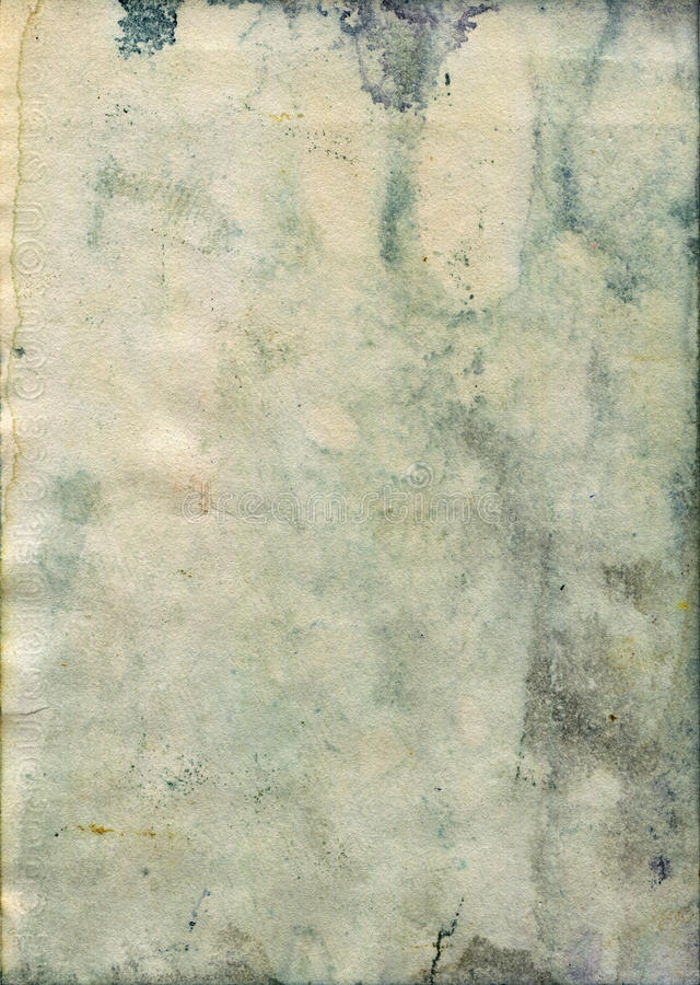 Stained old watercolor paper texture royalty free stock photos
