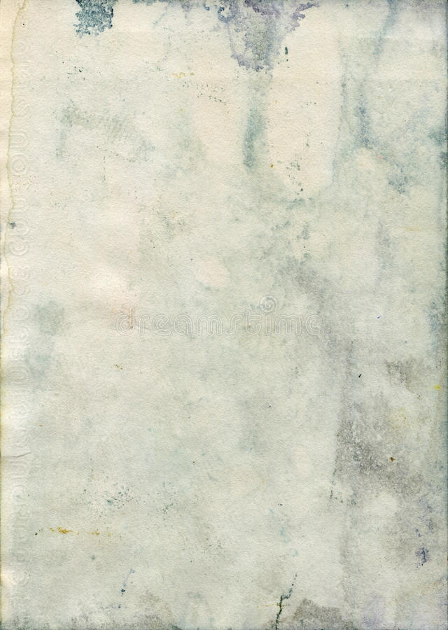 Stained old watercolor paper texture stock photos