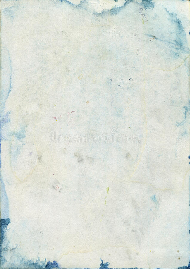 Stained old watercolour paper texture stock photos
