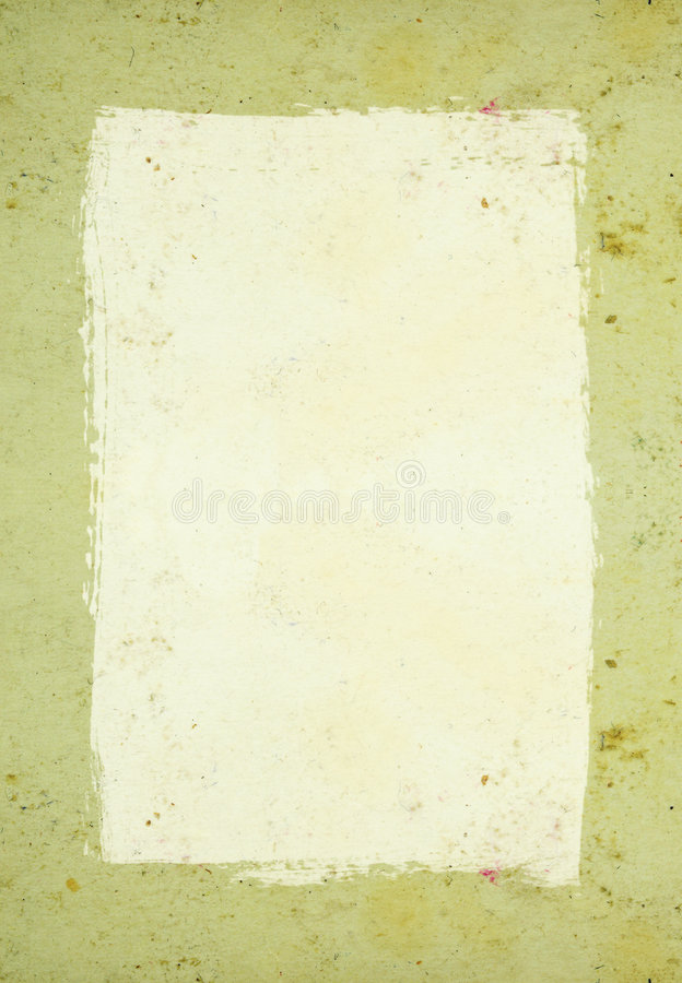 Stained paper frame stock photo