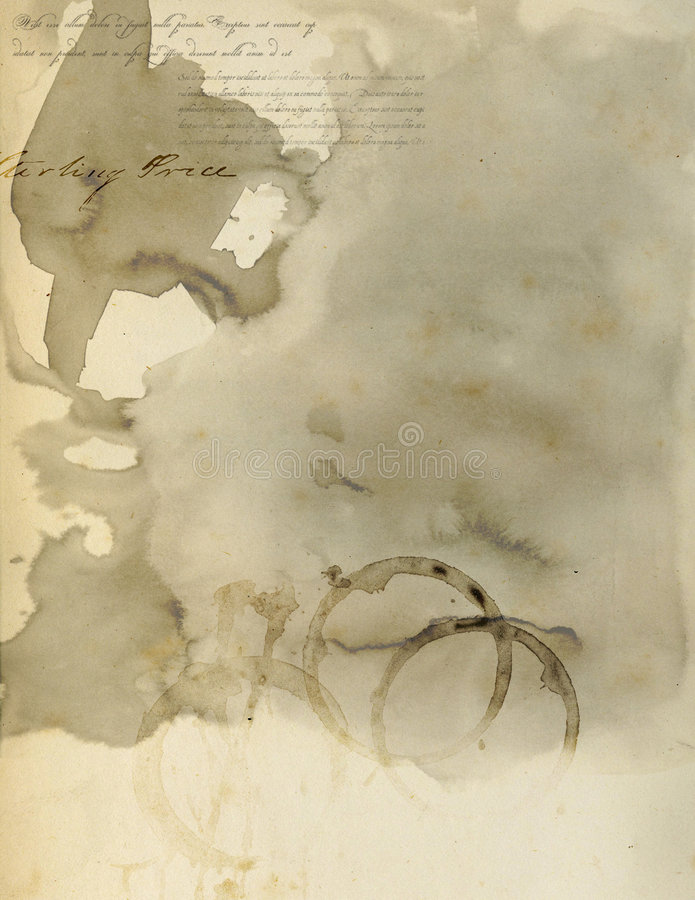 Stained Paper IV stock illustration