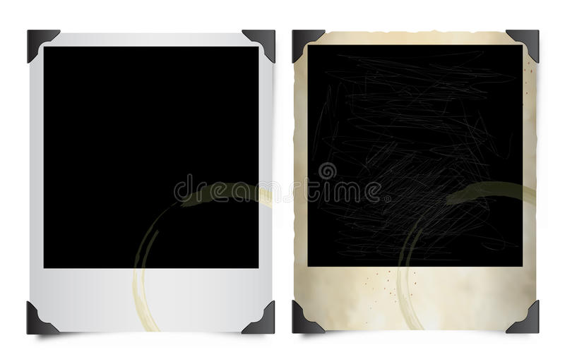 Stained Polaroid images vector illustration