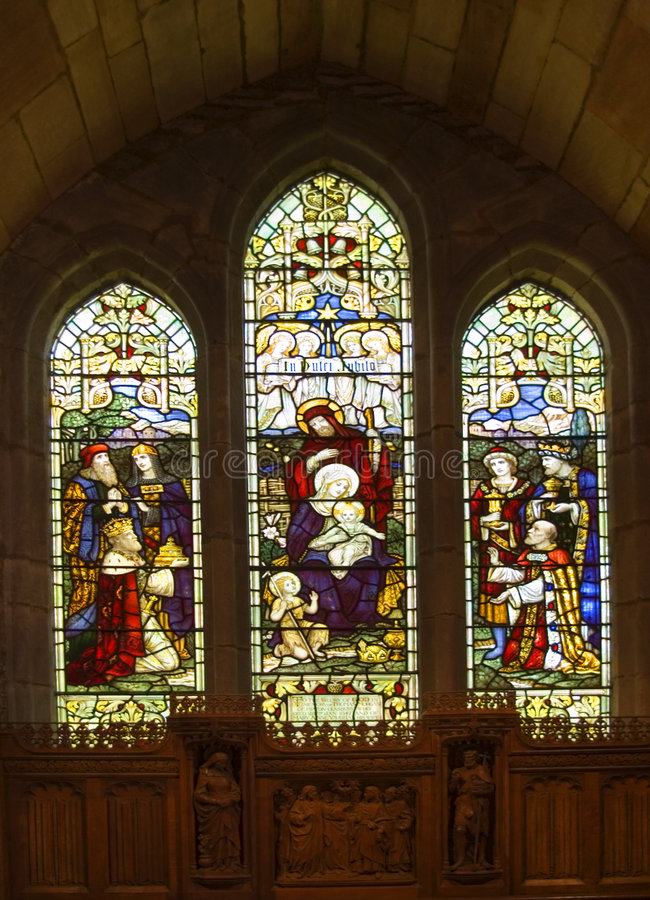Stainglass Window royalty free stock image
