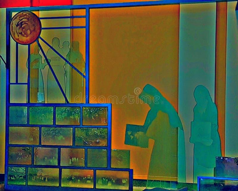 StainGlasshagel Mary Heaven stock fotografie