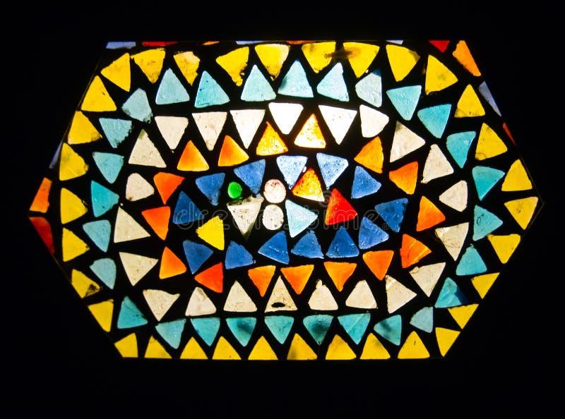 Stainglasslamp royalty-vrije stock afbeeldingen