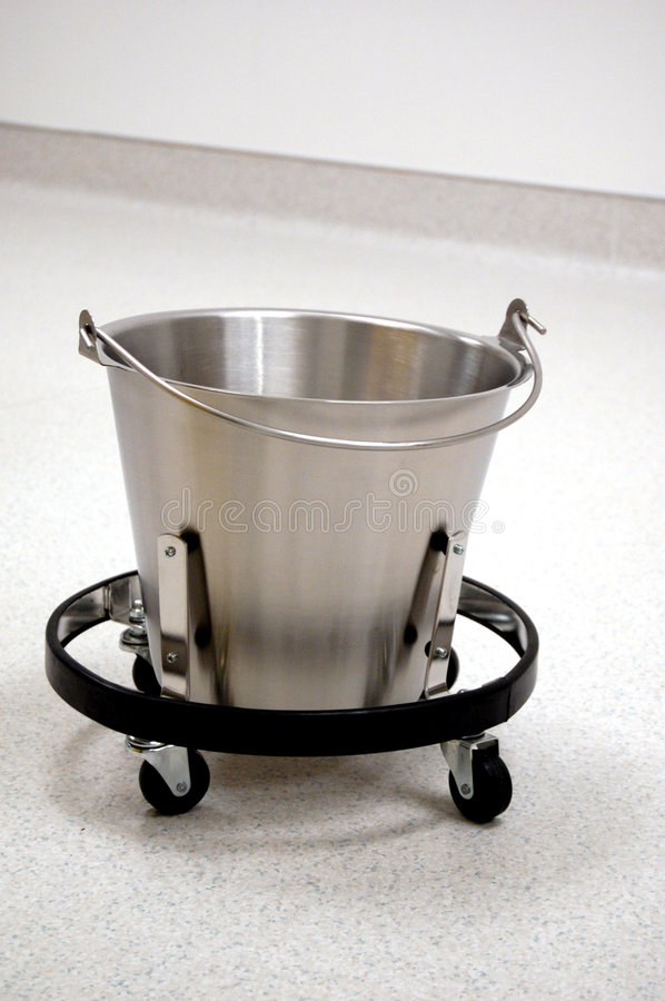 Download Stainless bucket stock image. Image of inddor, pail, laboratory - 3063399
