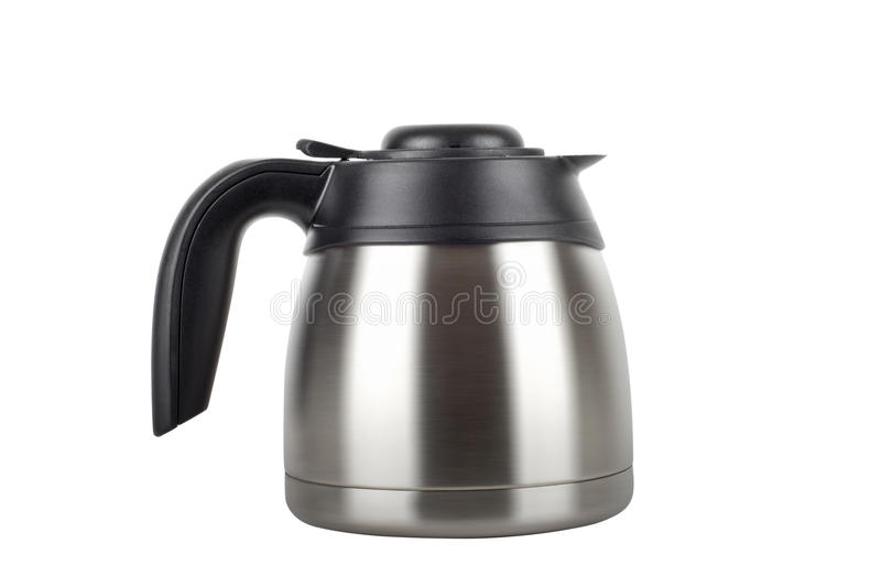 Stainless electric kettle isolated on white. Background stock photography