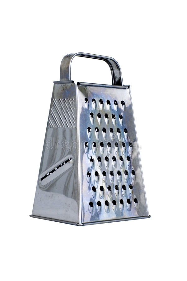 Stainless grater on white