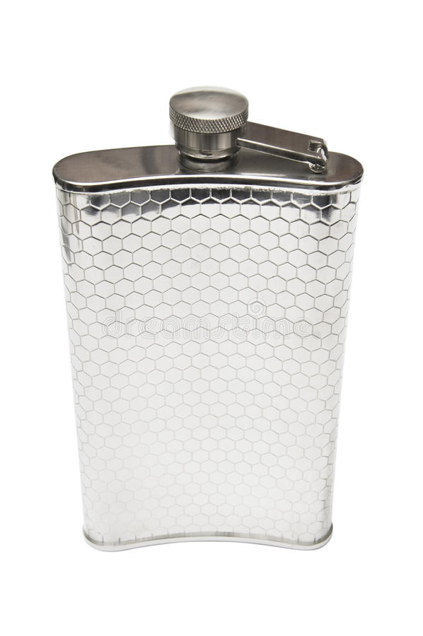 Stainless Hip Flask Royalty Free Stock Photo
