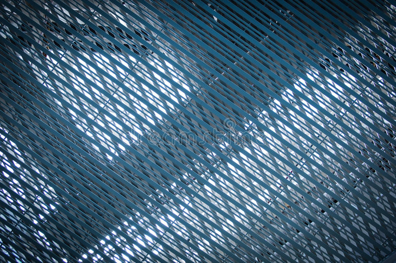 Stainless net blue architexture. Background royalty free stock images