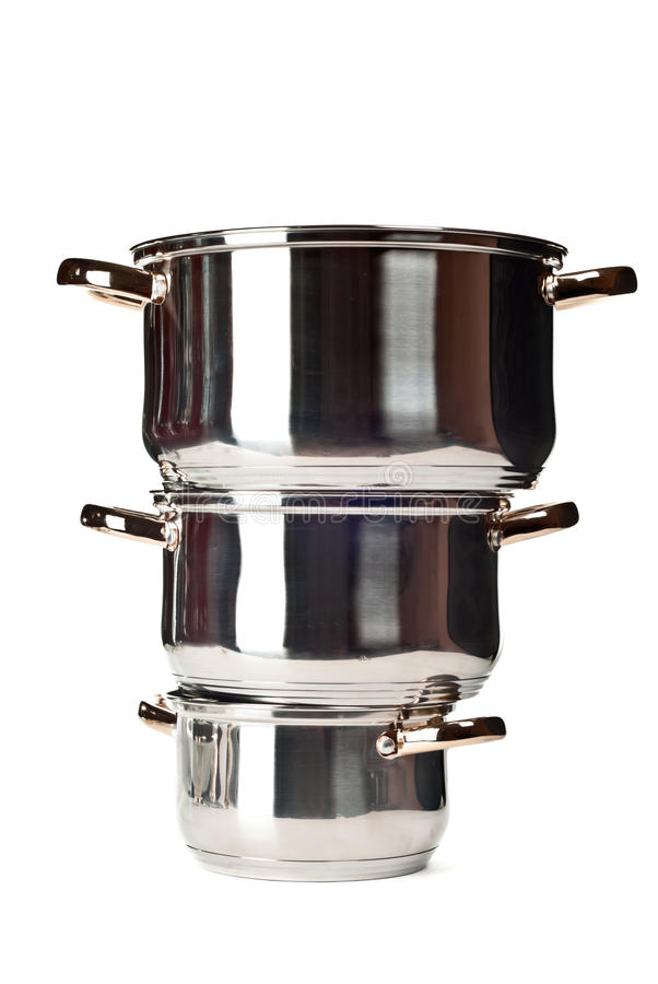 Download Stainless pans stock image. Image of metal, equipment - 20278491