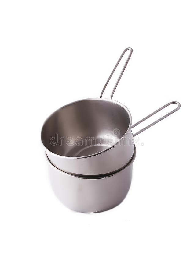 Stainless pot stock images