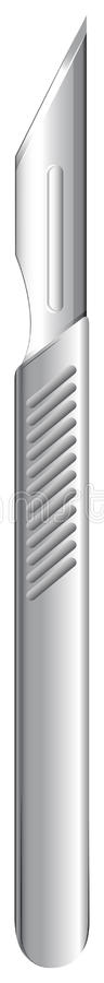 A stainless scalpel. Illustration of a stainless scalpel on a white background stock illustration